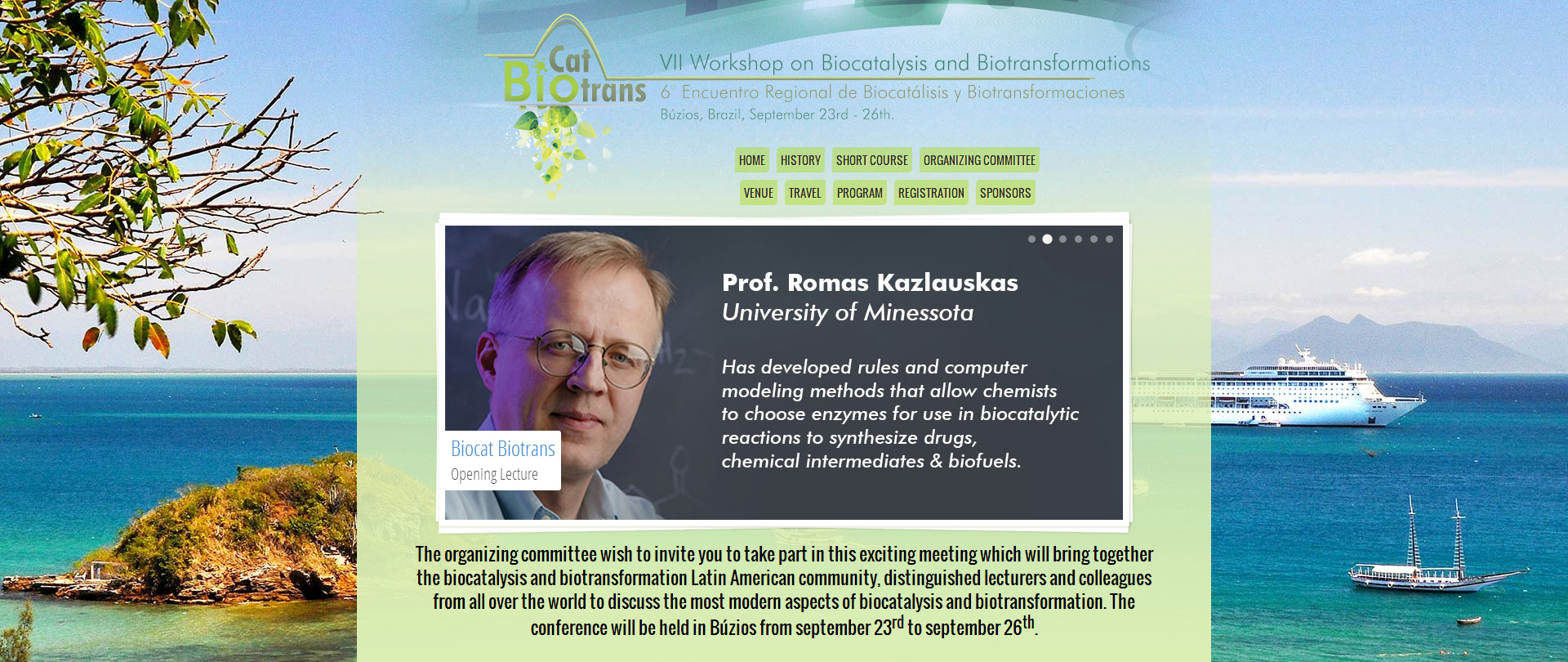 Design, site e comunicação visual para evento BiocatBiotrans 2014